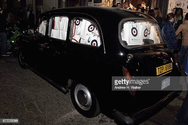 An English car filled with gift bags at the launch of Ben Sherman's first official US Flagship Store on March 30 2006 in New York City