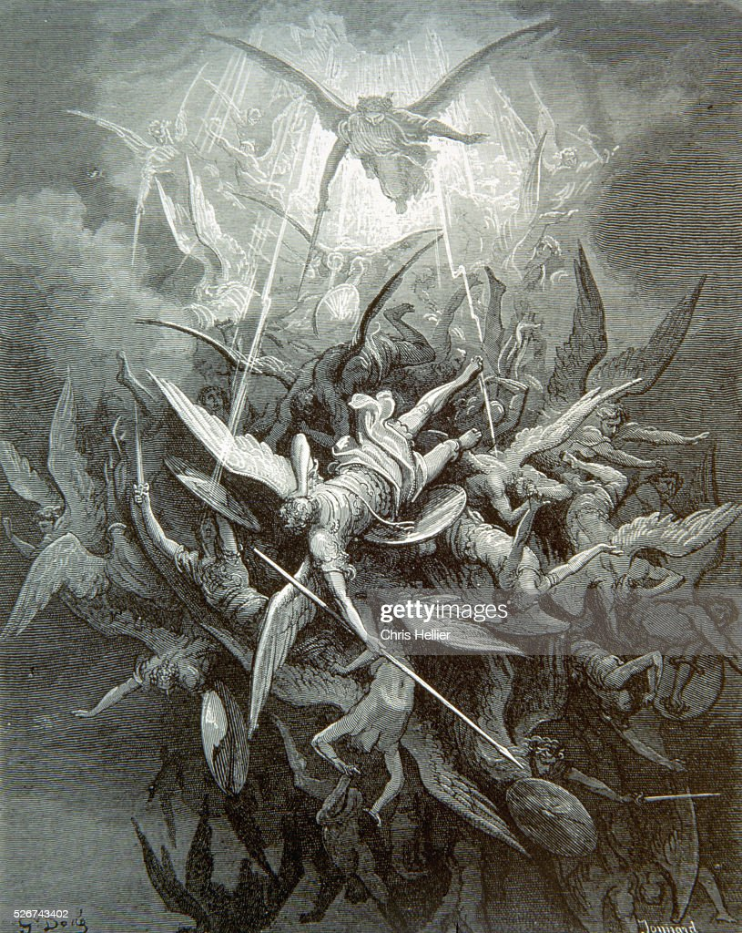 Fall of the Rebel Angels by Gustave Dore : News Photo