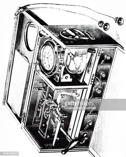 An engraving depicting a portable electric chronograph designed by Paul Ditisheim. A chronograph is a specific type of watch that is used as a...