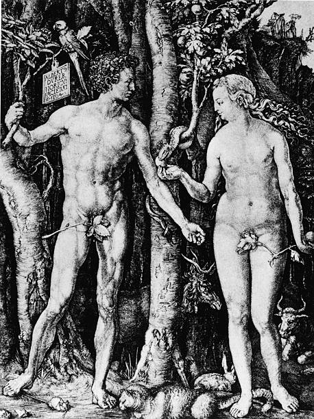 Engraving Of Adam And Eve Wall Art