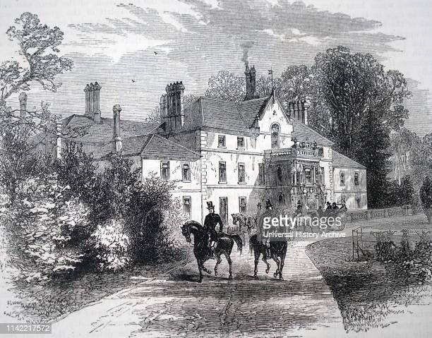 An engraving depicting Sandringham House Norfolk England Dated 19th century