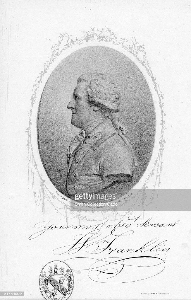 Portrait Of William Franklin : Fotografía de noticias