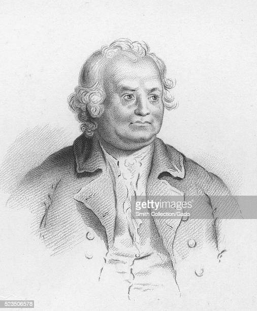 An engraving from a painting of Israel Putnam an American military officer who served during the French and Indian War as well as the American...