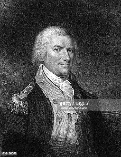 An engraving from a portrait of Arthur St Clair he was a Scotland born military officer who rose to the rank of Major General in the Continental Army...