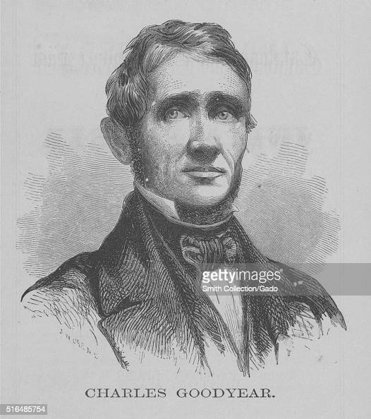 An Engraving From A Portrait Of Charles Goodyear He Was A