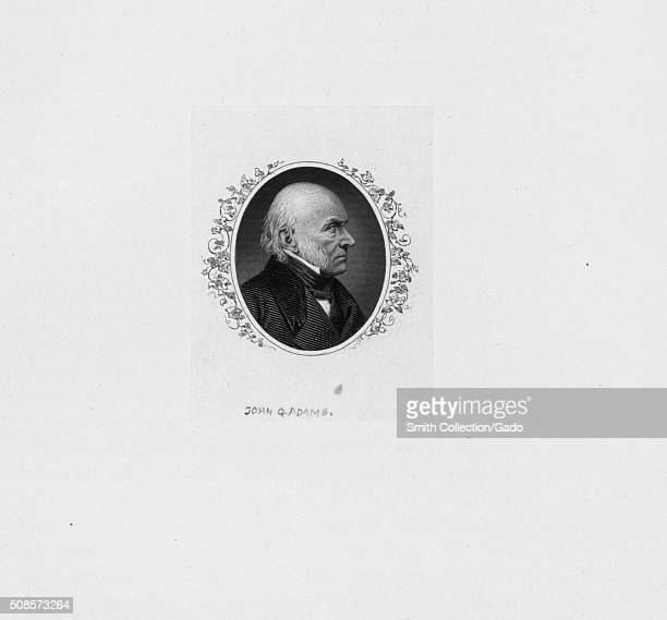 An engraving from a portrait of John Quincy Adams 1881 From the New York Public Library
