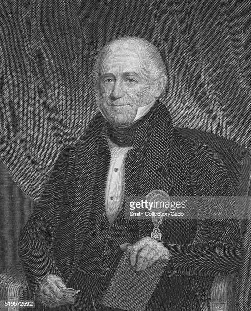 An engraving from a portrait of Morgan Lewis a New York born lawyer and politician who fought in both the American Revolutionary War and the War of...