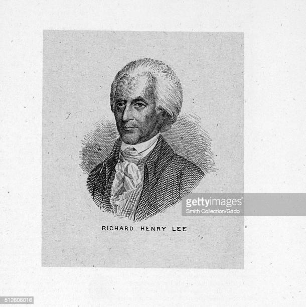 An engraving from a portrait of Richard Henry Lee he was an American politician who became most famous for his motion in the Second Continental...