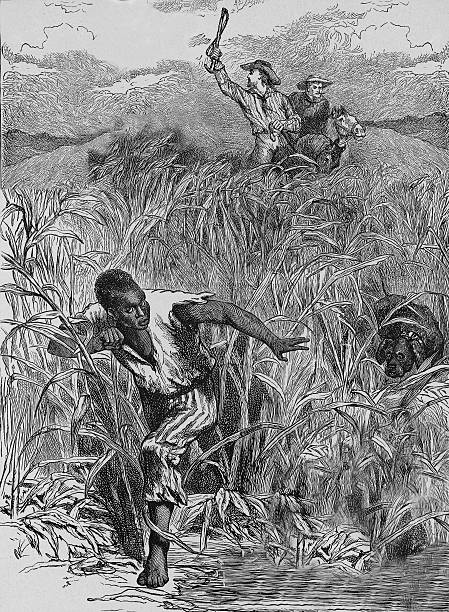 Engraving Of Slave Escape, Mid-19th Century. Wall Art