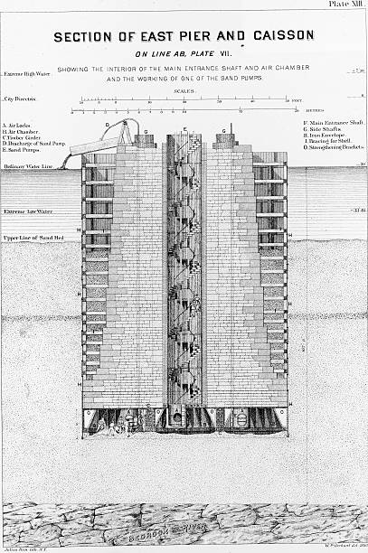 Blueprint Of Brooklyn Bridge Wall Art