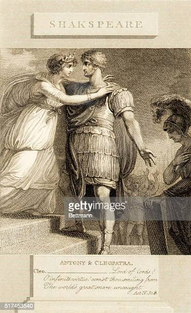 An engraving of Act IV Scene 8 from Antony Cleopatra by William Shakespeare