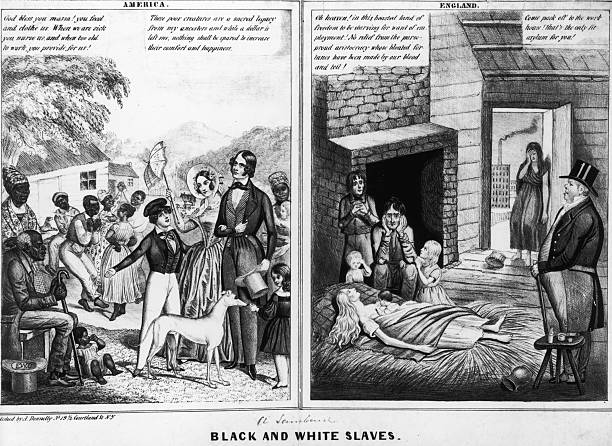 Black And White Slaves Wall Art