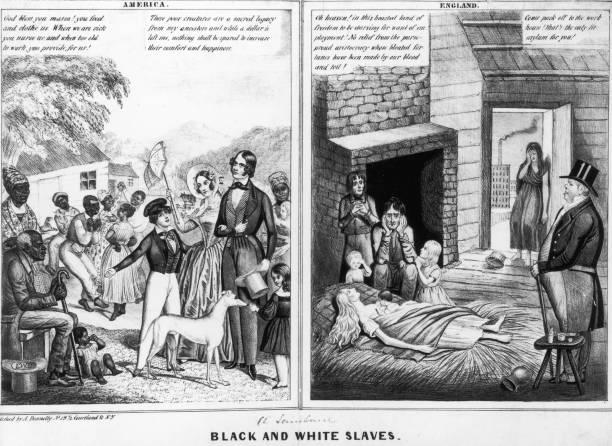 Black And White Slaves Wall Art