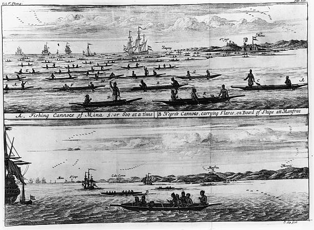 An Engraving of Fishing Canoes and 'Negro's Cannoes'...