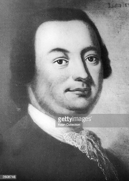 An engraving of German composer and musician Johann Christoph Friedrich Bach court musician at Buckeburg Germany and 9th son of the composer JS Bach