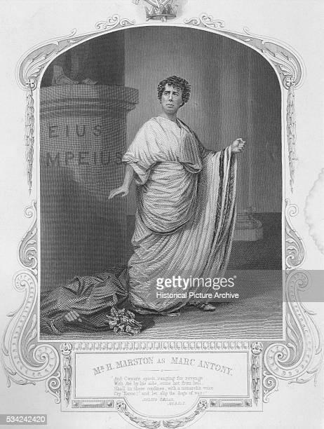 An engraving of H Marston as Marc Antony in Shakespeare's Julius Caesar