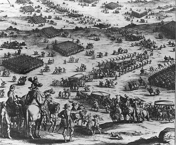 An Engraving of The Siege of Breda, circa 1624.