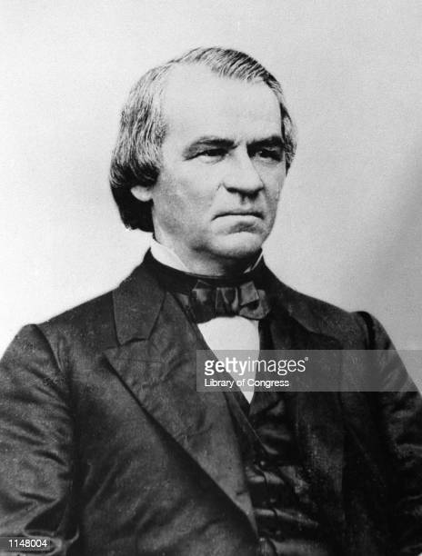 An engraving showing President Andrew Johnson in 1868. The House approved 11 articles of impeachment against Andrew Johnson in 1868, arising...