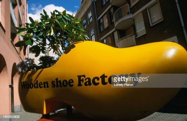 An enormous clog used as advertising for the Wooden Shoe Factory, Sint Antoniesbree Straat.