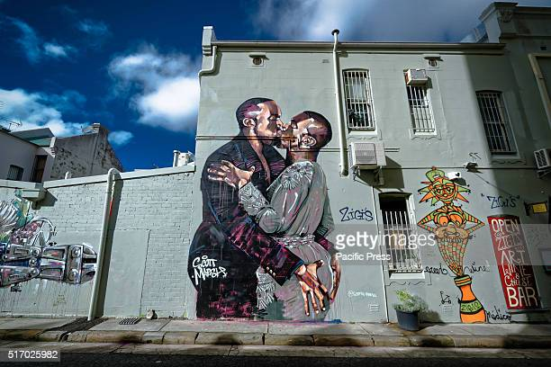 CHIPPENDALE SYDNEY NSW AUSTRALIA An enormous mural of two Kanye Wests making out by street artist Scott Marsh in Chippendale Sydney is fast becoming...