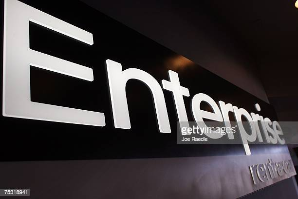 An Enterprise rentacar sign is seen at the Fort Lauderdale/Hollywood International airport July 10 2007 in Fort Lauderdale Florida Pending regulatory...
