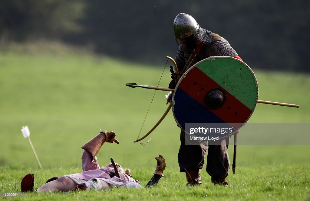 Enthusiasts Participate In The Annual Battle Of Hastings Re-enactment : News Photo