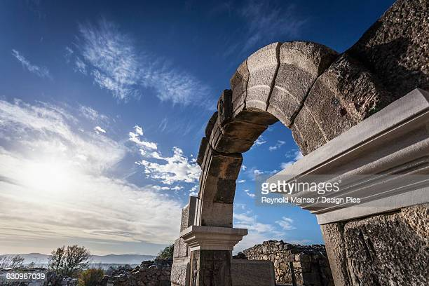 An entrance to the ancient Philippi Theatre