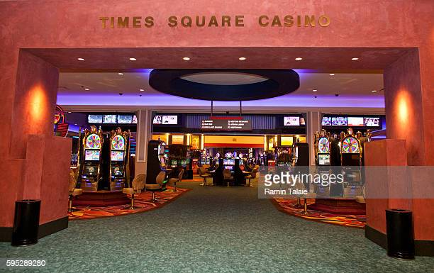 An entrance to the main hall of Genting's new Resorts World New York casino at Aqueduct Race Track in Jamaica section of Queens in New York on...