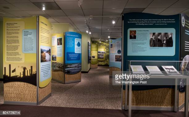 WASHINGTON DC An Environmental Protection Agency exhibit addressing the work done since their inception over the decades entitled 'The Story of the...
