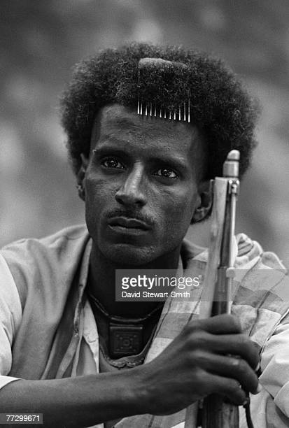 An EPLF fighter in Eritrea in northeast Africa during the Eritrean War of Independence 7th December 1989
