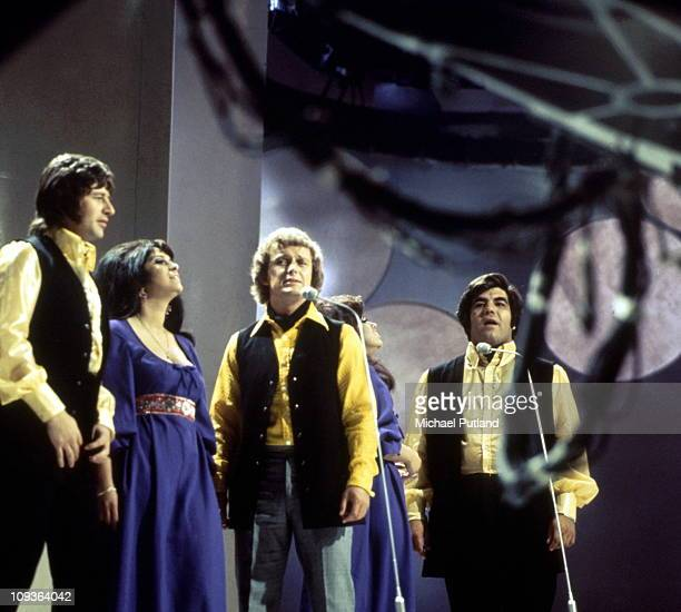An eraly line up of Brotherhood of Man perform on BBC TV's Young Generation Show show in London 1969