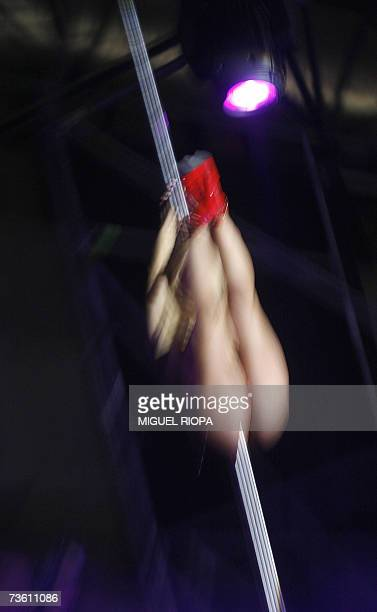An erotic dancer performs during the 2nd Erotic Trade Fair 'Seda' in Vilagarcia de Arousa northwestern Spain 16 March 2007 AFP PHOTO / Miguel RIOPA