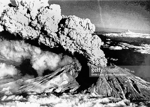 An eruption column rises from Mount St Helens Washington 22nd July 1980 This was one of a series of explosive eruptions by the volcano in 1980 the...
