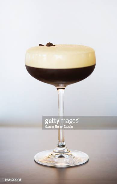 an espresso martini cocktail - espresso stock pictures, royalty-free photos & images