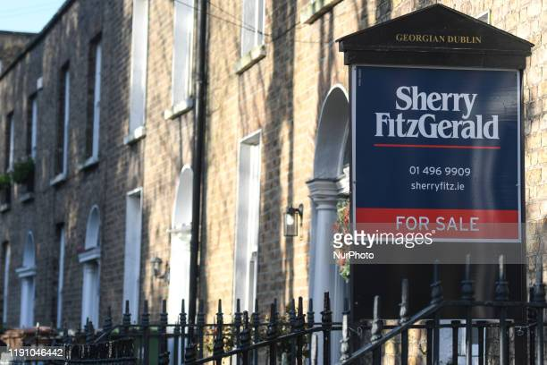 An estate agent sign advertising a house for sale in Ranelagh House prices in Ireland are beginning to fall according to the latest annual report by...