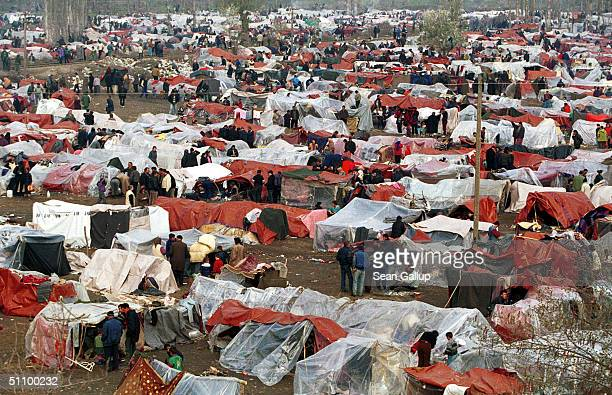 An Estimated 40000 Albanian Refugees From Kosovo Fill The Squalid Camp At Blace In Macedonia Just Across The Border From Yugoslavia Thousands Of...