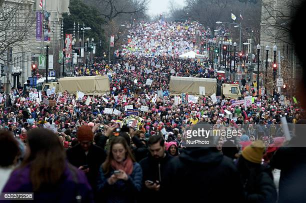An estimated 500000 protested in Washington DC on Jan 21 during the Womens March on Washington a day after the inauguration of Donald Trump as...