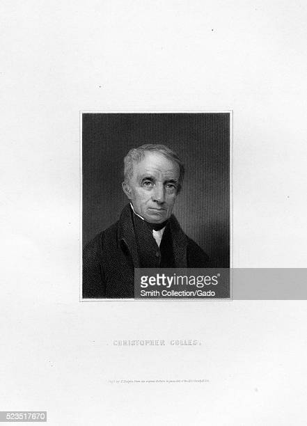 An etching from a portrait of Christopher Colles,an Irish born American engineer and inventor, he had been granted funding and was well in to the...
