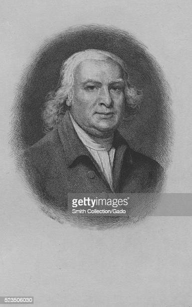 An etching from portrait of Robert Morris a Founding Father of the United States who signed the Declaration of Independence the Articles of...