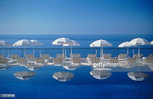 An eternity pool with a sea view in the Club Dauphin of the Grand Hotel in StJeanCapFerrat on the French Riviera circa 1960