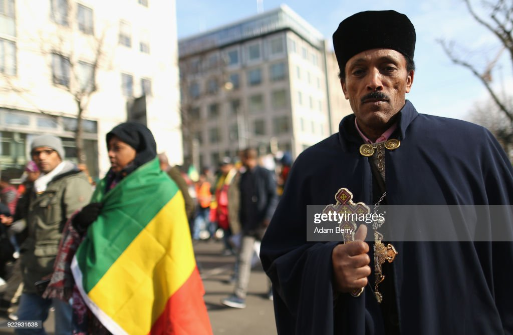 Ethiopians In Germany Demonstrate Against Their Government