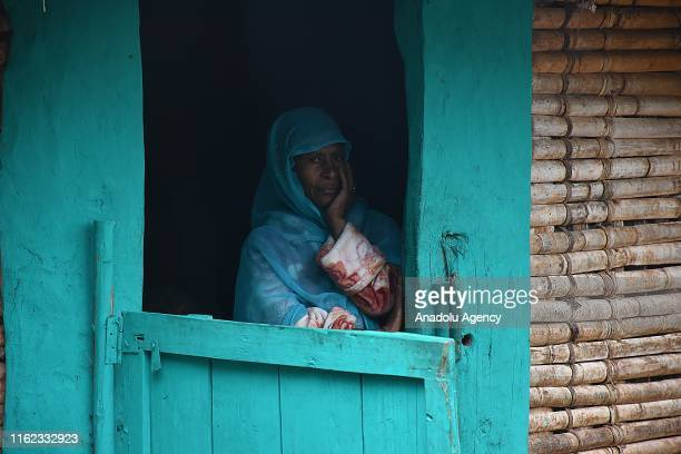 An Ethiopian woman is seen in Addis Ababa Ethiopia on August 18 2019 Ethiopian women in markets and countrysides of capital Addis Ababa contribute...