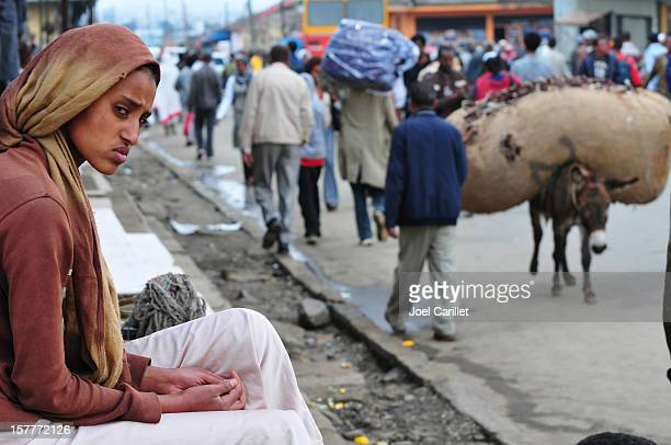 streets of addis ababa - addis ababa stock pictures, royalty-free photos & images