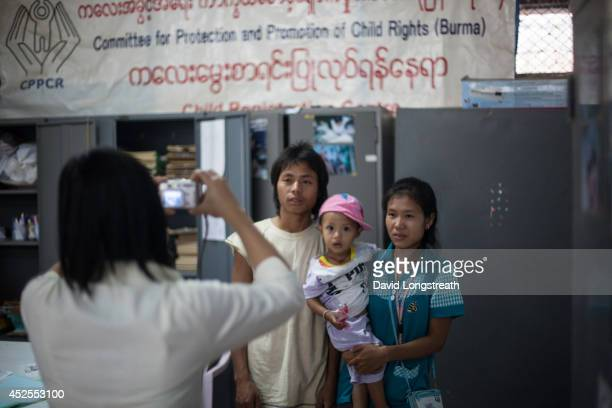 An ethnic Karen refugee's birth is registered at the Mae Tao Clinic Mae Tao clinic provides free treatment to constant stream of people from Myanmar...