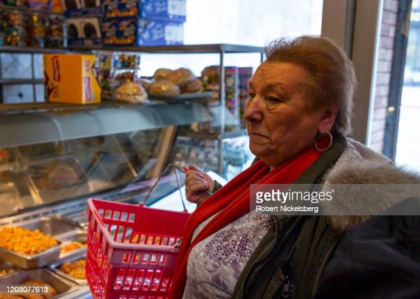 An ethnic Polish-American woman shops at a store selling imported Polish products and American made goods in the Greenpoint neighborhood of Brooklyn,...