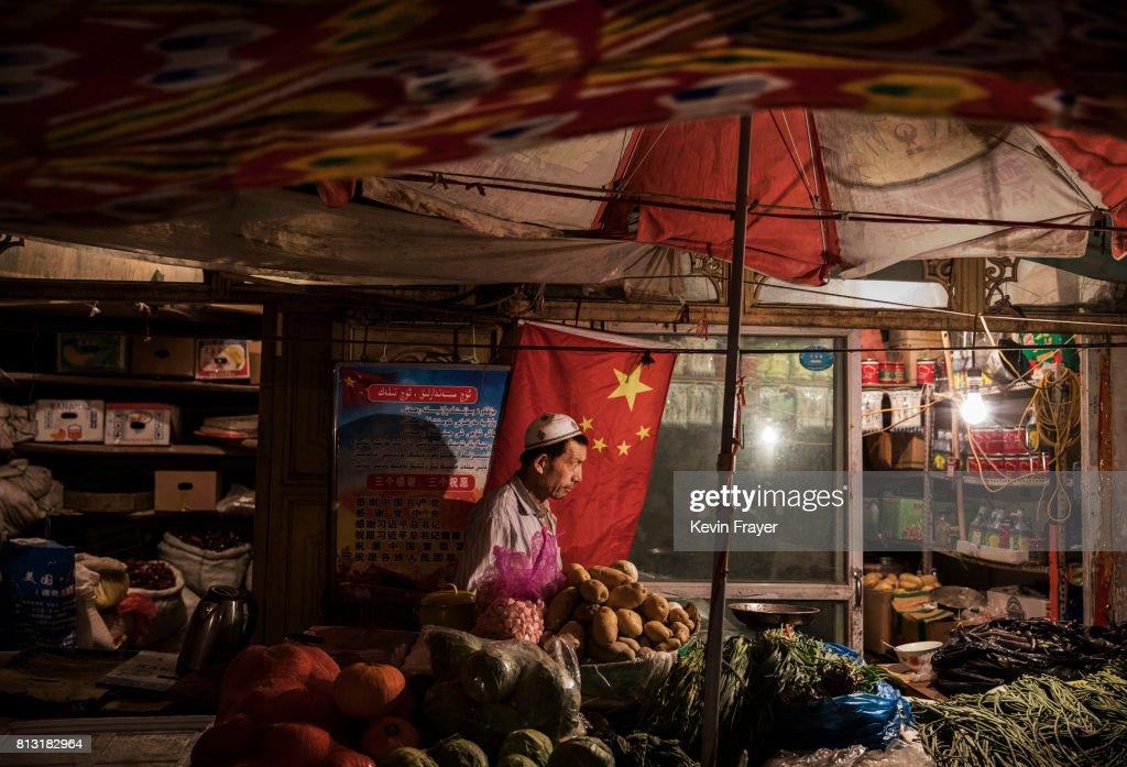 Uyghur Life Endures in Kashgar's Old City : News Photo
