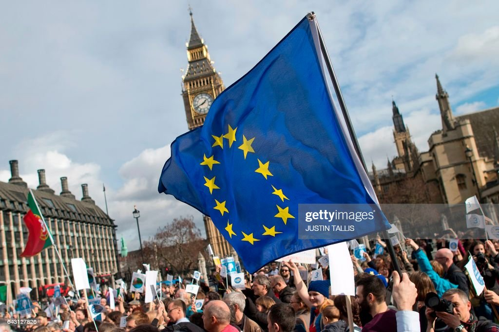 BRITAIN-BREXIT-PROTEST : News Photo