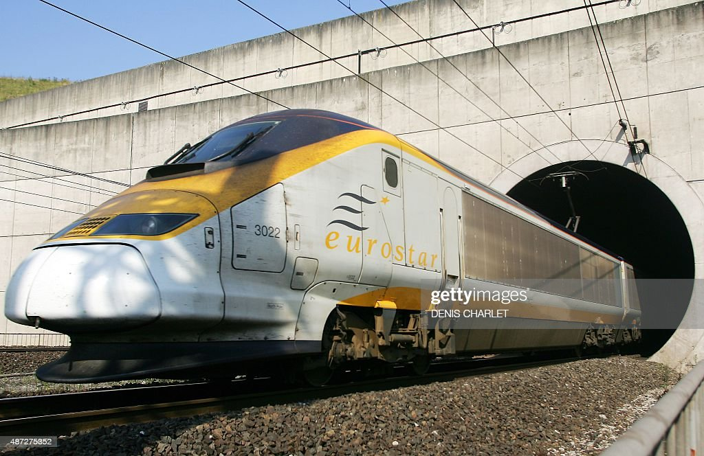 An Eurostar train emerges from the Eurotunnel, 13 July 2006 in Coquelles, northern France. Eurotunnel was to 'place itself under the protection of the Paris Tribunal of Commerce' after a failure in negotiations on its debt with its creditors, a Eurotunnel spokesman announced today.