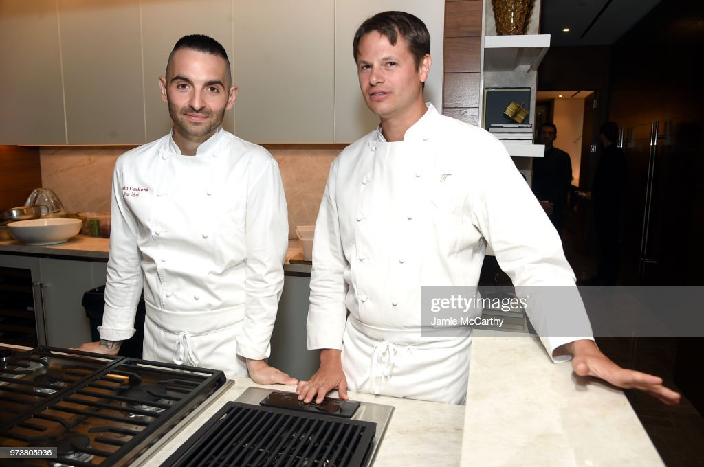 An Evening At One West End With chefs Mario Carbone And Rich Torrisi on June 13, 2018 in New York City.