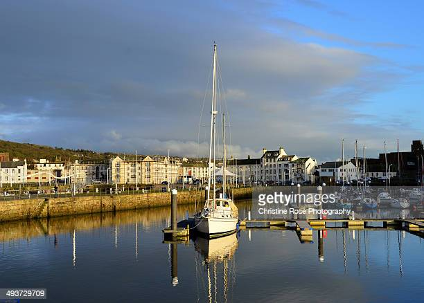 an evening at the marina - whitehaven cumbria stock pictures, royalty-free photos & images